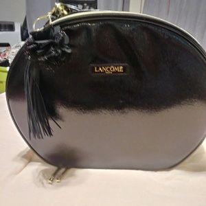 Lancome black patent Makeup Case NWoT